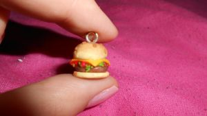 The Hamburger polymer clay by MiniSweetx