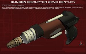 Klingon Disruptor [22nd Century] Tech Readout by unusualsuspex