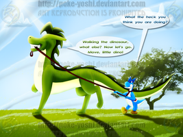 Walking the Dinosaur by Mike-Dragon