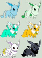 Eevee Shiny Legendary Adopts [Closed] by ReinFalling