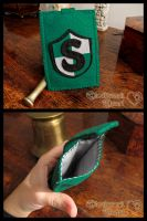 Slytherin - Felt Mobile / Cell Phone Case by ClockworkHeartComple