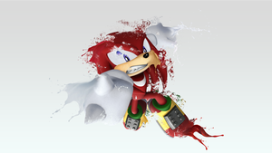 Knuckles Disintegration Wallpaper by darkfailure