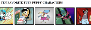 Top Five Favorite Tuff Puppy Characters. by THEEVILDOER