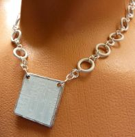White Cyber GLOW Necklace by Divulged