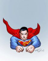 superman fly animation by deemonproductions