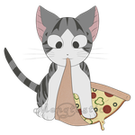 Chii eatting pizza by Mengtastic