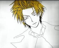 A blond and spikey hair by MichiruPLANET