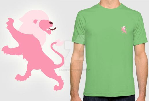 Pink Lion Symbol Polo Shirt by Slothgirlart