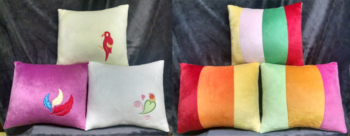 Parrot Pony Pillows by Bakufoon