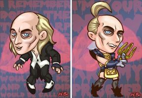 Rocky Horror Picture Show Riff Raff Art Card by kevinbolk
