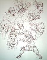 More Naruto Sketches by JD-SPEEDbit