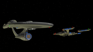 NX-01 meets NCC-1701 by enterprisedavid