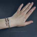 Sterling silver branch bangle by AnastasiaSobkevich