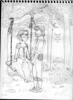 Rapunzel and Flynn by Mariana-S