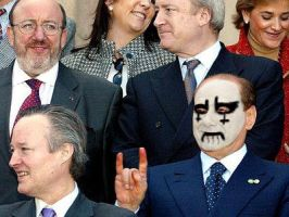 Berlusconi Corpse Paint by CrystalDeth