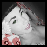 Flower Pin Up by Thelema001