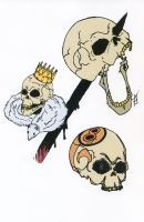 3 skulls by Wraphi
