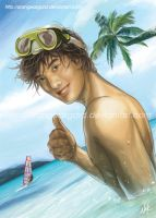 Hawaiian Beach Boy By Reins by Reinsstudio