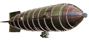 Steam Airship 02 PNG Stock by Jumpfer-Stock