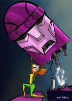 Rogue vs. A Sentinel by whysoawesome
