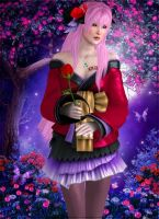 Red flower by Lady-Lili
