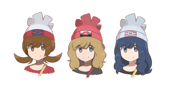 Hair Study 1.01 - Pokemon Sun and Moon Edits by chocomiru02