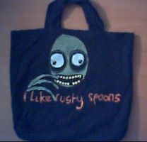 Salad Fingers shirt-purse by DekayingSlow