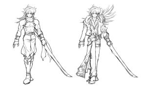 concept sketch - swordman by windship