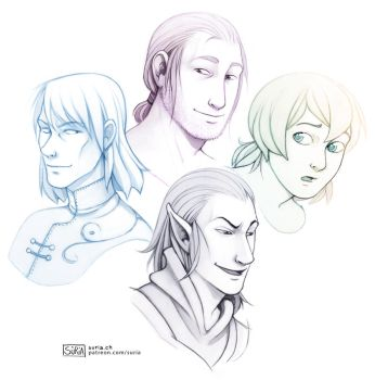 Gift - OC portraits by Sorente