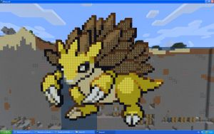 Sandslash On Minecraft by Miccopicco