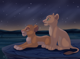 Simba and Nala by MarryGorgeous