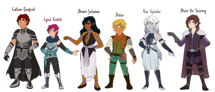Slightly Less than Epic Character Lineup by CrispyCh0colate