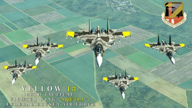 Yellow Squadron Wallpaper / Ace Combat by BillyM12345