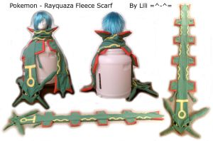 Rayquaza Fleece Scarf by LiliNeko