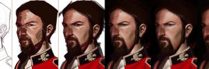 Man's face Steps HD by victter-le-fou