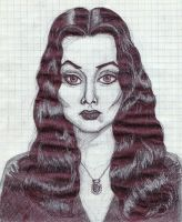 Morticia Addams by Cuilwarthien666