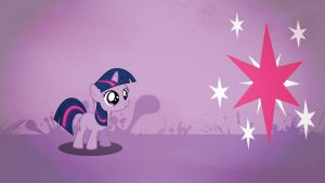 Twilight Sparkle filly wallpaper minimalistic by Nidrax