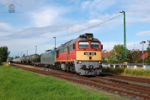 628 325 and 630 041 with freight in Gyorszabadhegy by morpheus880223