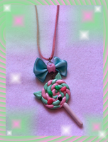 Sweet Lolita Kitten Lolipop Necklace by Pippin-chan