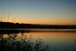 Sunset at lake 4 by DarthEnnui