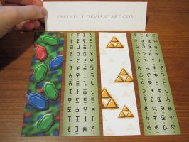 Legend of Zelda Bookmarks by Sarinilli