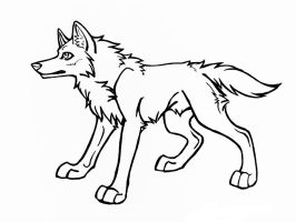 Free use wolf Lineart by AkashaOokami