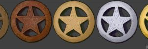 Star badge sprites by JR-T
