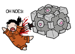 Companion cube by CrazyRatty