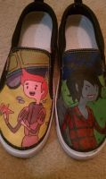 Prince Gumball x Marshall Lee Vans!! by RainingSideways