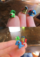 Johto Starters Fingertip size by xXShiningstar