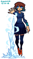 COMMISSION: ice girl by Cubesona