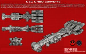 CEC CR90 Corvette (Blockade Runner) ortho [Update] by unusualsuspex