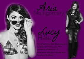 Lucy Hale alias Aria Montgomery by art-girl111