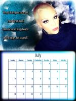 8x6 Jessie J July Calendar by CertainlyLostFameGal